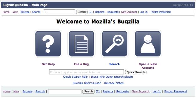 Bugzilla-landing-page